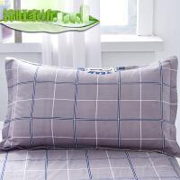 床上用品枕头套一对情侣装大号秋冬枕套简约 48cmX74cm