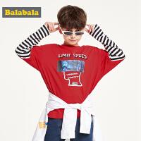 【每满200减100】巴拉巴拉童装男童长袖t恤秋装2019新款儿童上衣时尚洋气潮酷韩版