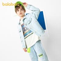 【3件4.5折:90】巴拉巴拉童装男童牛仔外套大童上衣纯棉韩版时尚洋气百搭