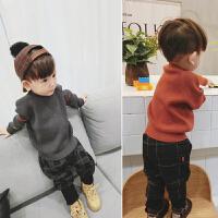 宝宝毛衣女 1-3岁2儿童装毛衫婴儿套头加绒线衣5女童针织打底衫