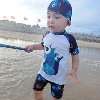 儿童泳衣男孩中小童男童分体速干防晒游泳套装泳裤学生温泉泳装