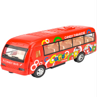 合金公交车模型仿真儿童玩具车公共汽车旅游bus男孩合金玩具巴士