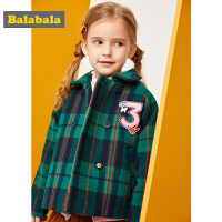 巴拉巴拉童装女童呢子外套秋冬2019新款儿童羊毛大衣加厚宝宝外衣