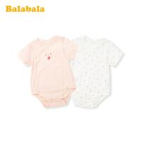 巴拉巴拉初生婴儿衣服新生儿连体衣包屁衣宝宝睡衣夏装薄款三角衣