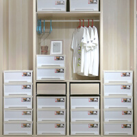 禧天龙抽屉式收纳柜2个装储物箱可叠加收纳柜日式简约收纳箱
