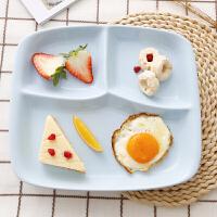 陶瓷餐盘分格 日韩式微波炉儿童成人中午快餐盘分隔可爱卡 粉红色