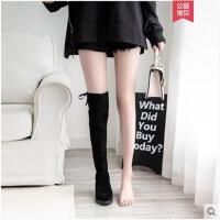 长靴女过膝靴冬季新款高筒平底瘦瘦长筒靴弹力靴加绒靴子女