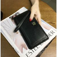 20180922125235490女士长款钱包 c薄花边手包女式拉链钱夹手腕包