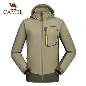 camel骆驼户外男款软壳衣 保暖耐磨防风男士软壳衣