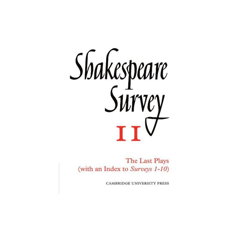 Shakespeare Survey With Index 1-10 [ISBN: 978-0521523479] 美国发货无法退货,约五到八周到货