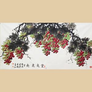 《紫气东来》中国美术家联谊会副主席、山东美协元老级会员贾维永【真迹772】