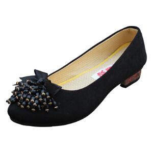 欣清2016新款坡跟女士休闲老北京布鞋 妈妈鞋 女鞋低帮单鞋