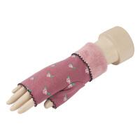 半指手套女冬季可爱时尚韩版露指手套加绒加厚保暖秋冬天学生写字手套