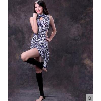 性感时尚气质肚皮舞连衣裙 旗袍裙子 修身显瘦练功服短裙套装