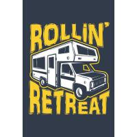 【�A�】Rollin' Retreat: Camping Journal RV Journal, Blank Pape