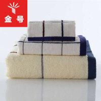 金号纯棉三件套毛巾(9106)方巾(2616)浴巾(0309)专柜特价柔软吸水