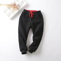 童装男童运动裤加绒加厚保暖休闲裤 儿童秋款卫裤 女童运动裤子