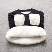 女童毛衣加绒加厚2017装儿童套头线衣婴儿打底针织衫