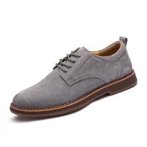 罗兰船长  休闲鞋男潮流皮鞋子户外工装鞋