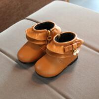 韩版宝宝棉鞋公主鞋加绒保暖女童雪地靴0-1--3岁短靴婴儿学步棉靴