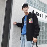 外套男士夹克休闲秋冬季韩版潮流ulzzang棒球服学生港风潮男装DJ-81019