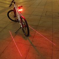 智能遥控自行车骑行激光尾灯转向灯山地车LED充电警示灯单车配件