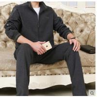 时尚休闲商务运动 长袖长裤时尚休闲运动服跑步卫衣 大码男士中老年运动套装