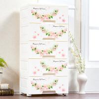 加大号卡通组合抽屉式收纳床头柜多层储物零食整理婴儿童衣柜子