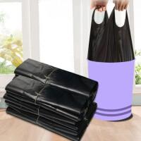 400只垃圾袋家用加厚手提式背心黑色厨房中大号塑料袋批发 手提背心式拉圾袋批发一次性塑料袋厨 多选择