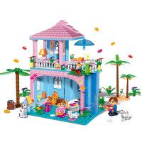 【当当自营】邦宝益智拼装积木小颗粒儿童女孩玩具建筑礼物 馨香花瓣浴8361