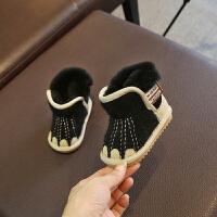宝宝雪地靴女0一1-3岁鞋男儿童羊绒真皮公主靴子婴儿软底冬季棉靴