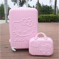 杆箱万向轮旅行箱20寸24寸行李箱可爱卡通登机箱硬拖箱潮