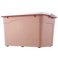 家用整理箱大号衣物有盖储物盒箱子加厚大号衣服收纳箱塑料汽车后备箱杂物收纳用品 北欧粉 波浪 单个250L带轮 长80宽