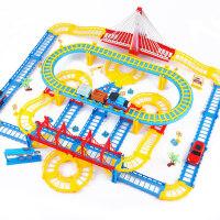 儿童电动赛车轨道车小火车套装益智4男孩3-6周岁7玩具汽车