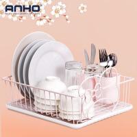 ANHO碗筷沥水架 单层厨房用品收纳篮盘子筷子置物架子 沥水篮碗碟架