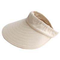 遮阳帽女夏天时尚韩版百搭防晒帽子遮脸出游骑车空顶沙滩帽太阳帽大沿