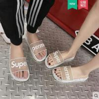 时尚百搭情侣拖鞋女外穿新款凉拖女厚底防滑沙滩鞋