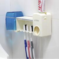 卫士洗漱套装自动挤膏器+牙刷架+杯架-白色自动挤牙膏器套装壁挂牙刷架置物架懒人牙膏挤压器刷