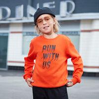 【2件3折到手价:53.7元】鸿星尔克(ERKE)童装男童圆领上衣儿童卫衣套头新款运动休闲男装秋长袖