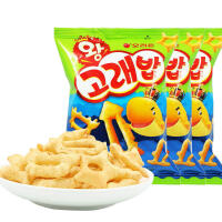 【包邮】韩国进口 好丽友好多鱼鲸鱼型虾条 膨化休闲食品 56g*3袋