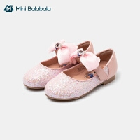 迷你巴拉巴拉女童甜美皮鞋2021春款可爱时装鞋