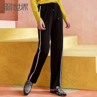 熙世界通勤韩版长裤大码女2018春装新款休闲裤111LK024