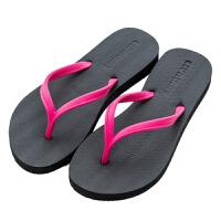 韩版简约厚底防滑人字拖家用洗澡冲凉拖鞋夏季外穿女式凉拖鞋凉鞋