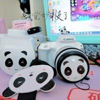 佳能EOS 200D相机套皮套保护套单反相机包原创可爱卡通熊猫