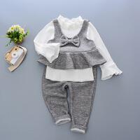 童话元素女宝宝套装新款儿童衣服2岁女童秋装三件套套0至1到3周岁半小孩童装两件套4儿童马甲