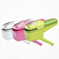 日本国誉kokuyo无针订书机10 枚钳式彩色钉针订书器 SLN-MSH110办公用大号省力型便携手握式钉书机