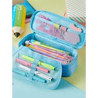 简约初中生笔袋大容量男女高中生文具盒铅笔盒ins 星座创意多功能小学生文具袋铅笔袋