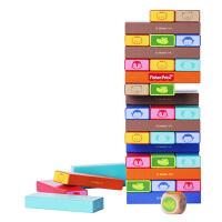 【当当自营】【当当自营】FisherPrice费雪木制彩色动物层层叠抽抽乐积木 3岁儿童益智FP1017A