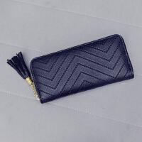 新款简约个性日韩版女士钱包长款手拿包手包学生皮夹拉链钱夹手机包潮
