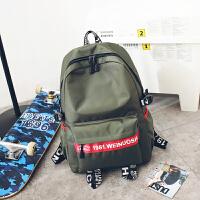 韩版双肩包休闲男背包时尚潮流高中学生书包旅行水大容量15.6寸